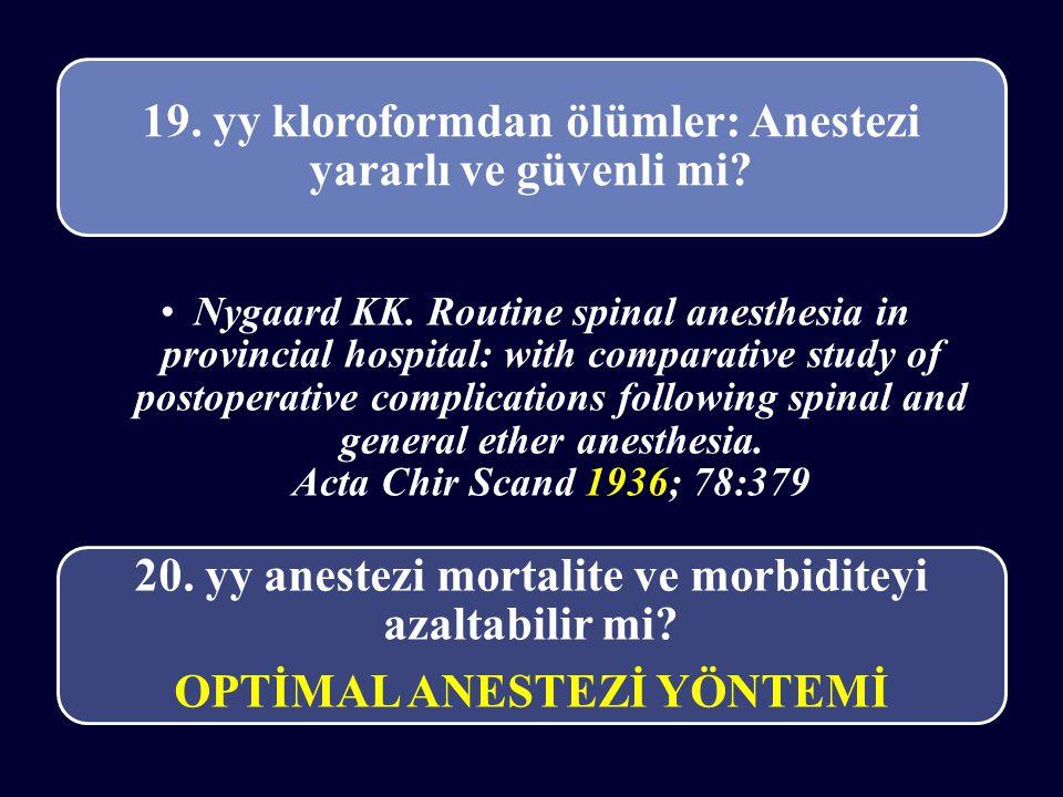19. yy kloroformdan ölümler: Anestezi yararlı ve güvenli mi