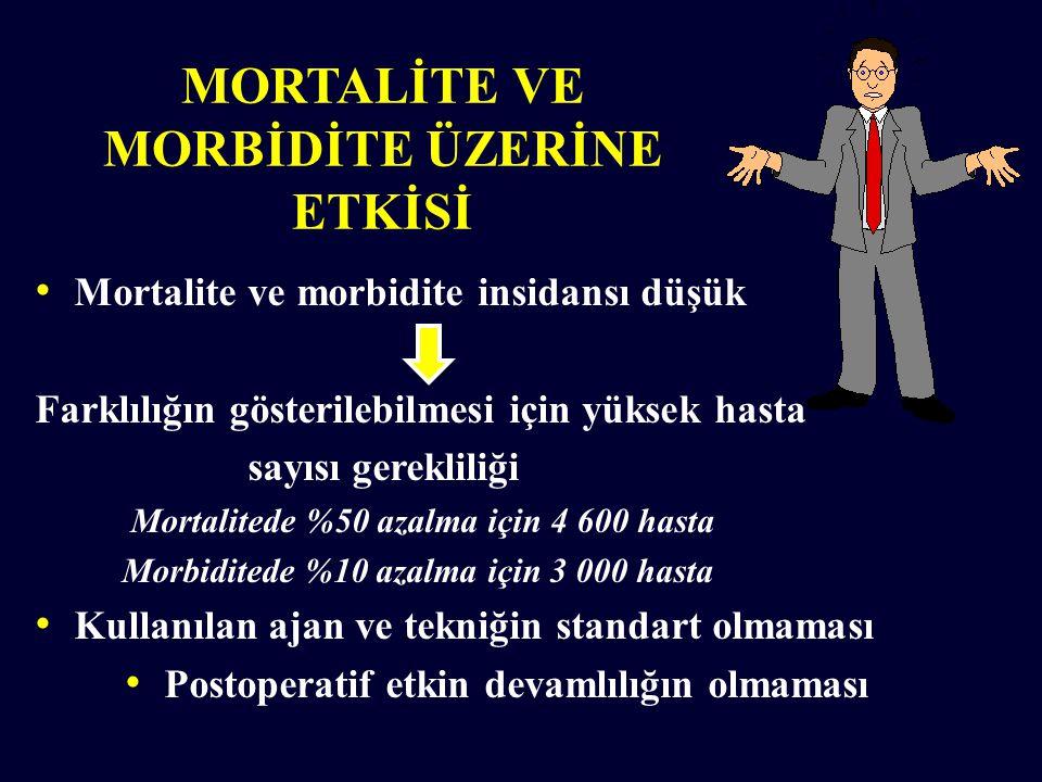 MORTALİTE VE MORBİDİTE ÜZERİNE ETKİSİ