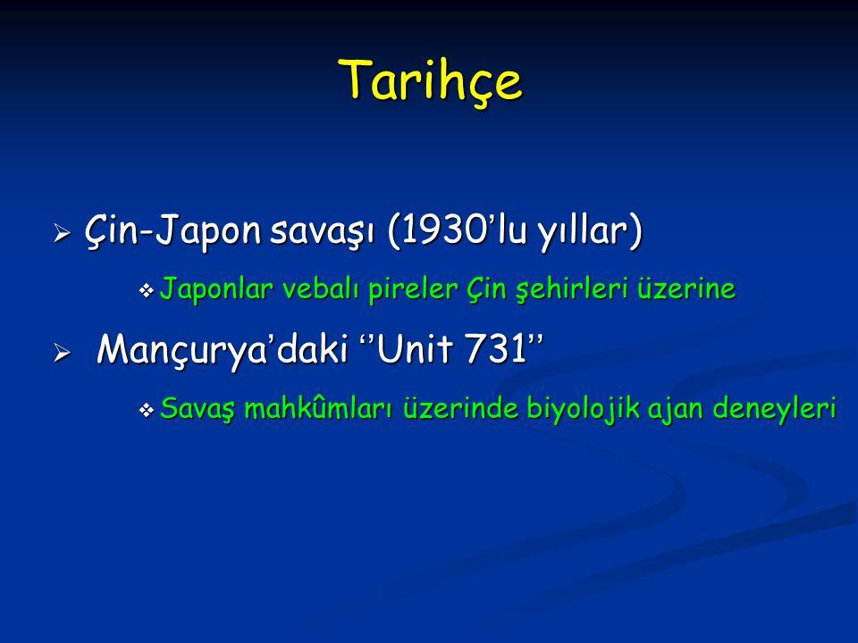 Tarihçe Çin-Japon savaşı (1930'lu yıllar) Mançurya'daki ''Unit 731''