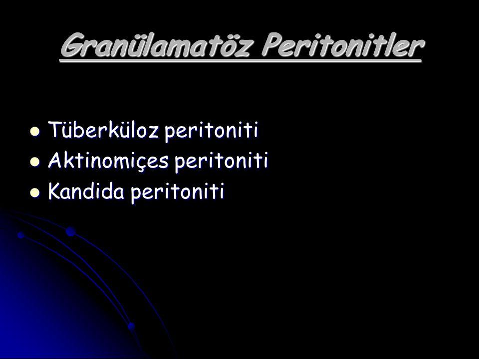 Granülamatöz Peritonitler