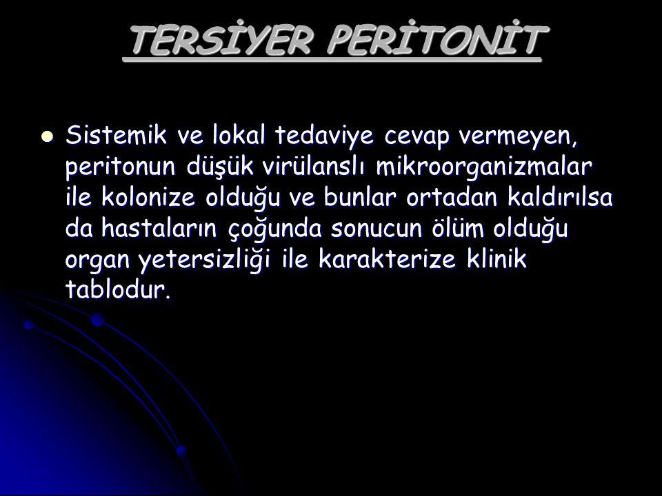 TERSİYER PERİTONİT
