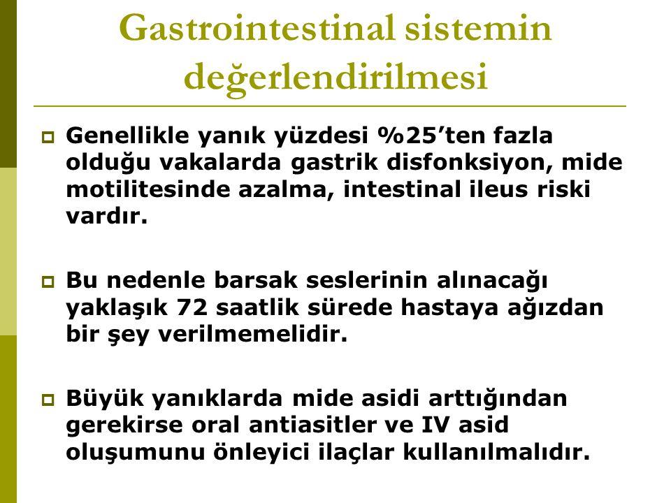 Gastrointestinal sistemin değerlendirilmesi