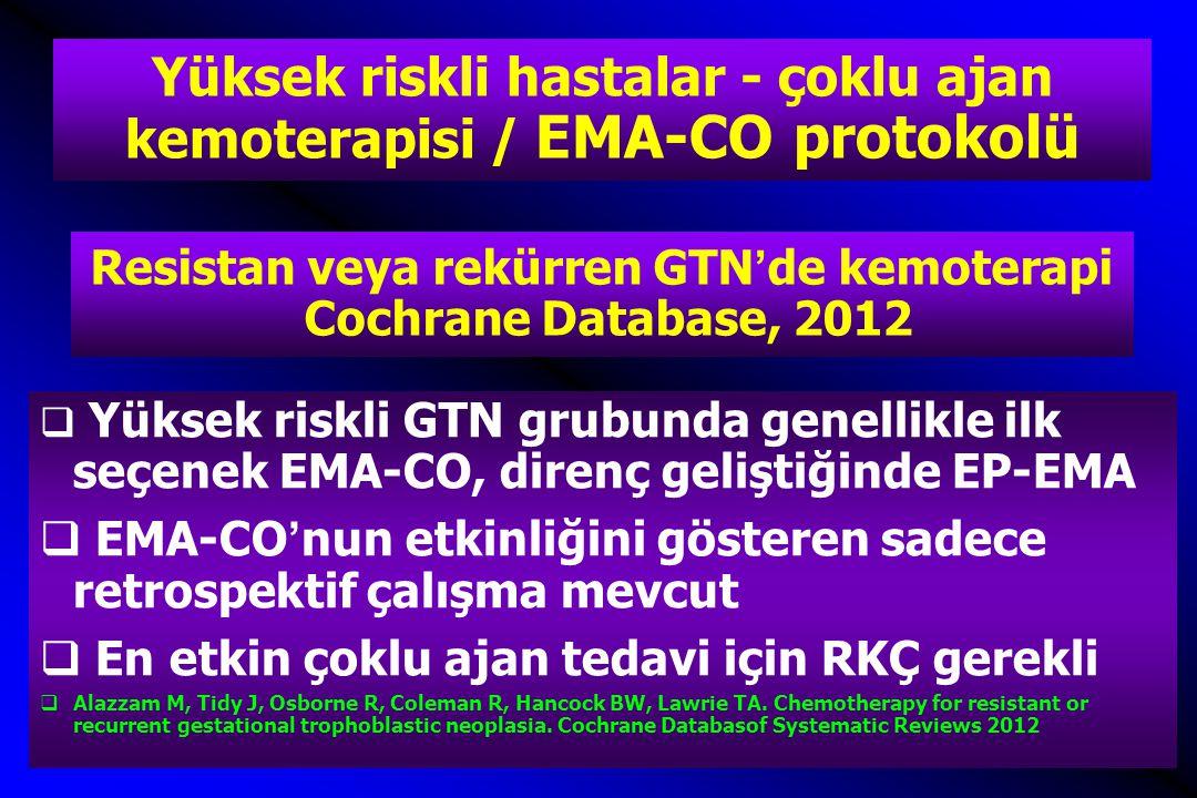 Resistan veya rekürren GTN'de kemoterapi Cochrane Database, 2012
