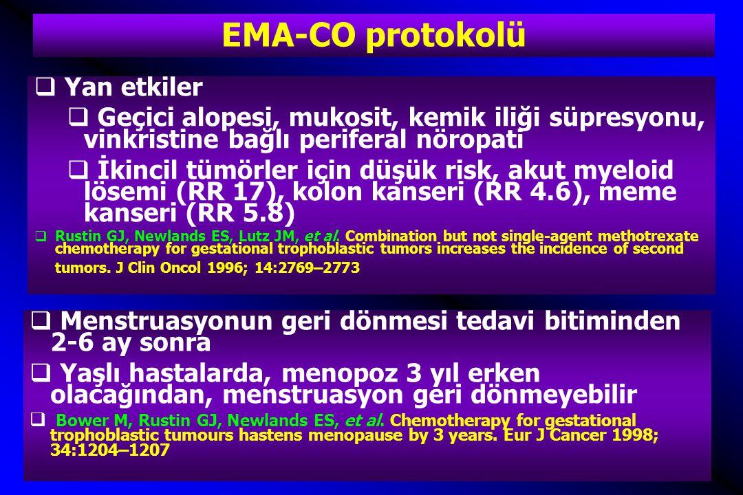 EMA-CO protokolü Yan etkiler