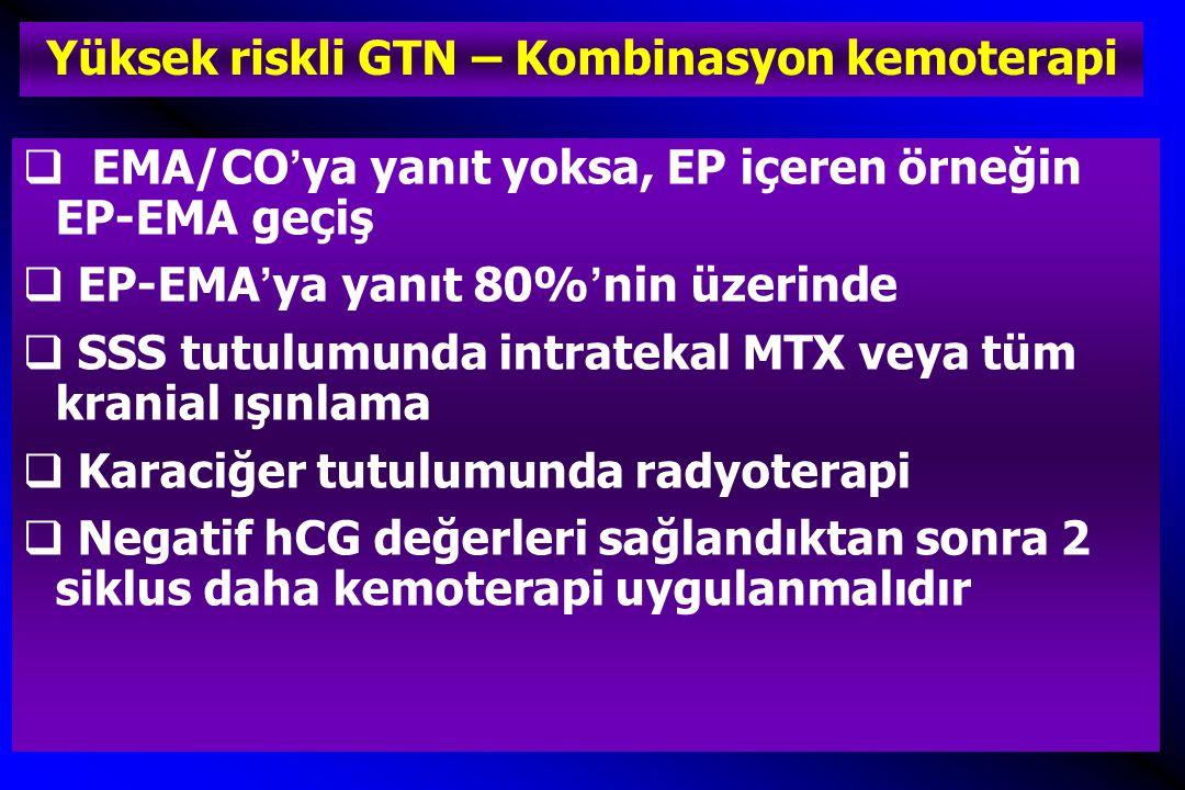 Yüksek riskli GTN – Kombinasyon kemoterapi