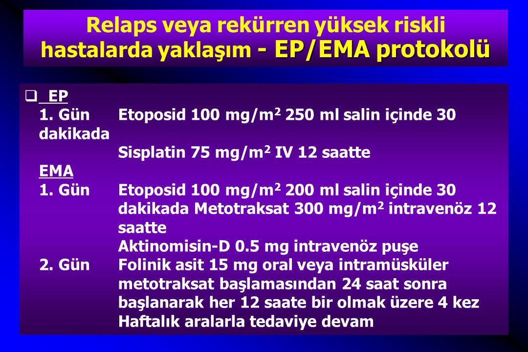 Relaps veya rekürren yüksek riskli hastalarda yaklaşım - EP/EMA protokolü
