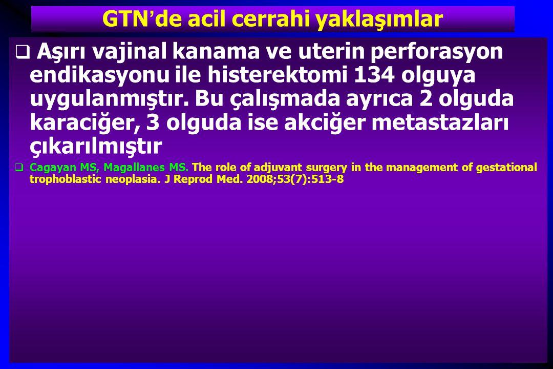 GTN'de acil cerrahi yaklaşımlar