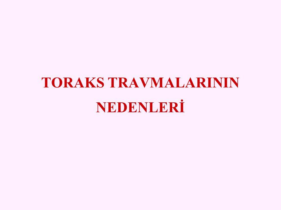 TORAKS TRAVMALARININ NEDENLERİ