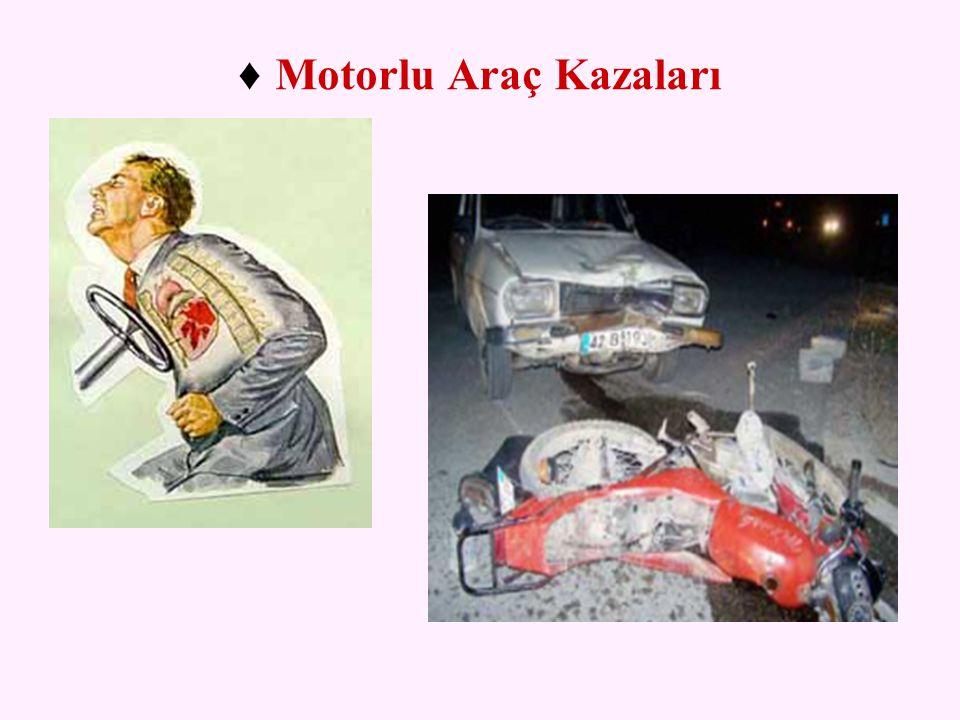 ♦ Motorlu Araç Kazaları