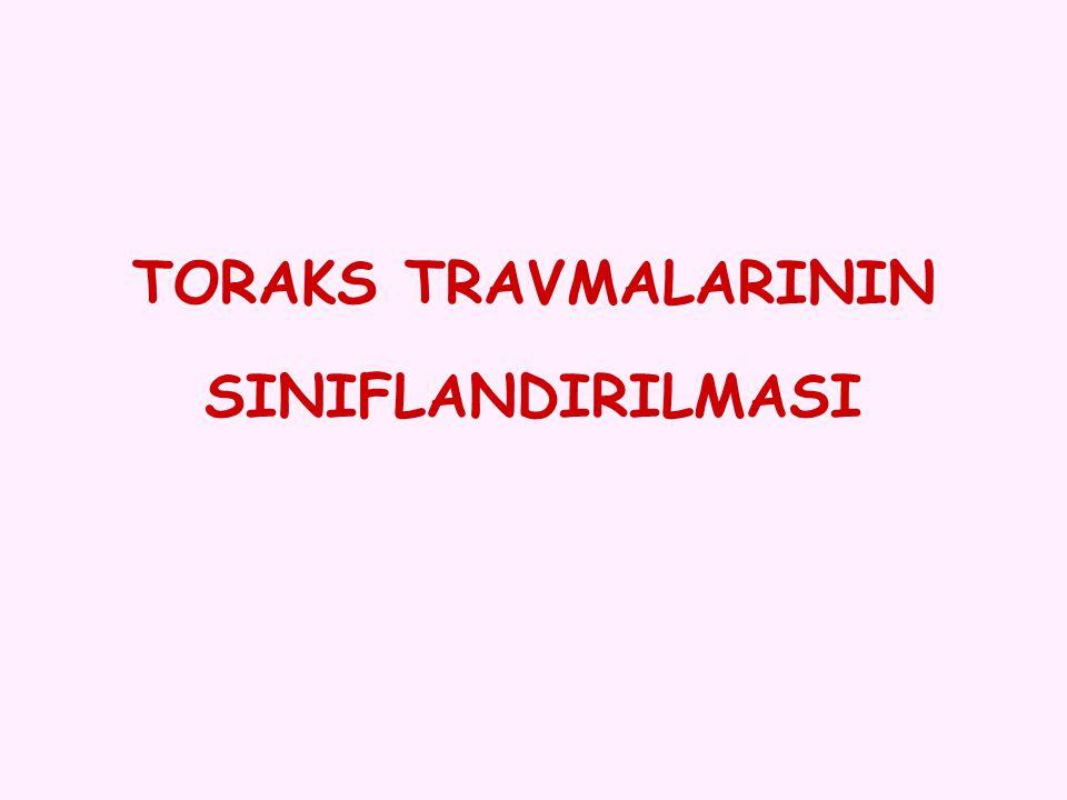 TORAKS TRAVMALARININ SINIFLANDIRILMASI