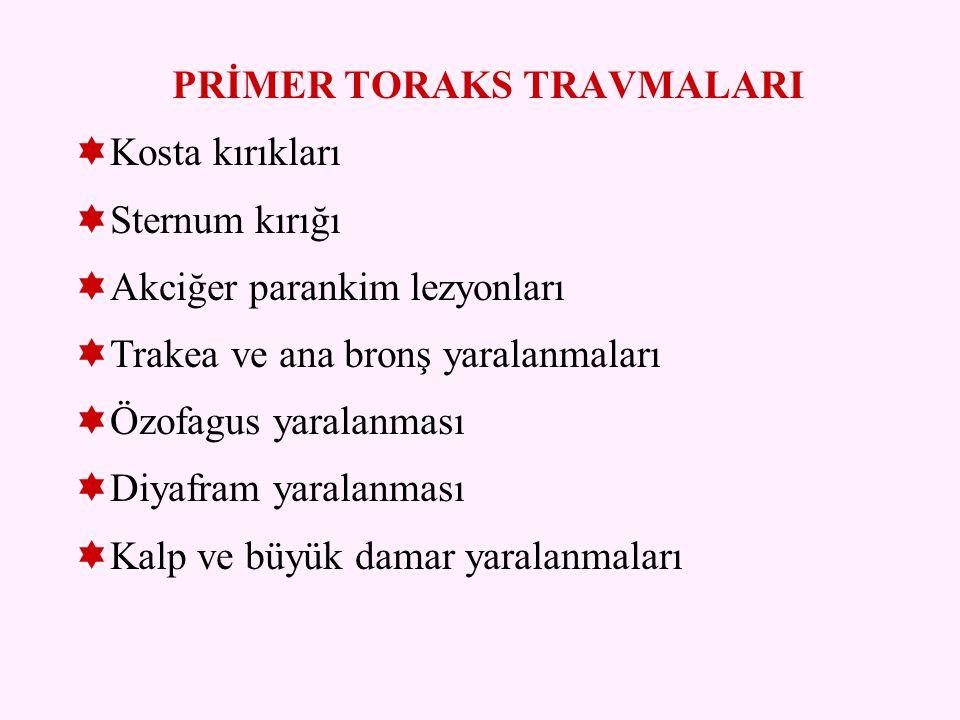 PRİMER TORAKS TRAVMALARI