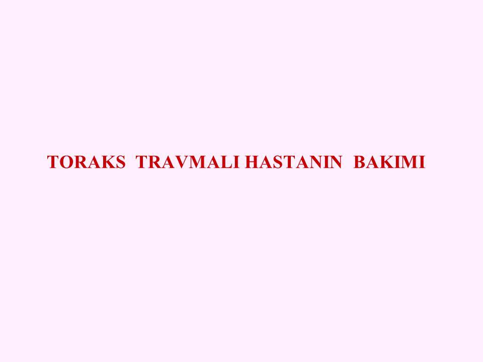 TORAKS TRAVMALI HASTANIN BAKIMI