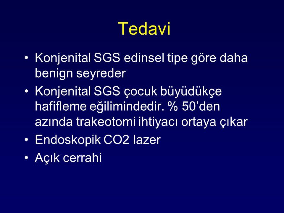 Tedavi Konjenital SGS edinsel tipe göre daha benign seyreder