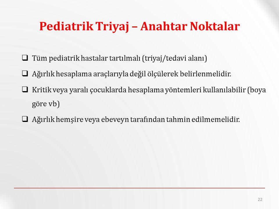Pediatrik Triyaj – Anahtar Noktalar