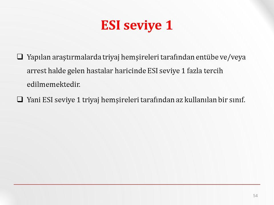 ESI seviye 1