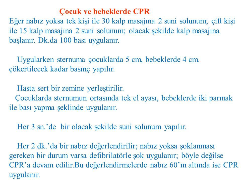 Çocuk ve bebeklerde CPR
