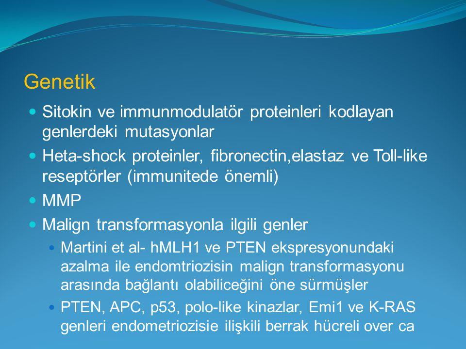 Genetik Sitokin ve immunmodulatör proteinleri kodlayan genlerdeki mutasyonlar.