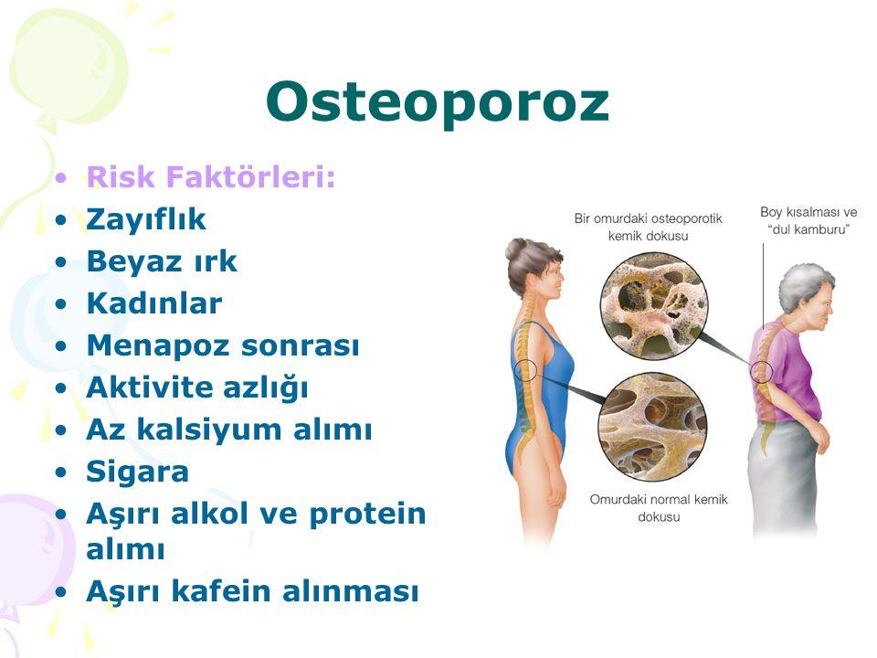 Osteoporoz Risk Faktörleri: Zayıflık Beyaz ırk Kadınlar