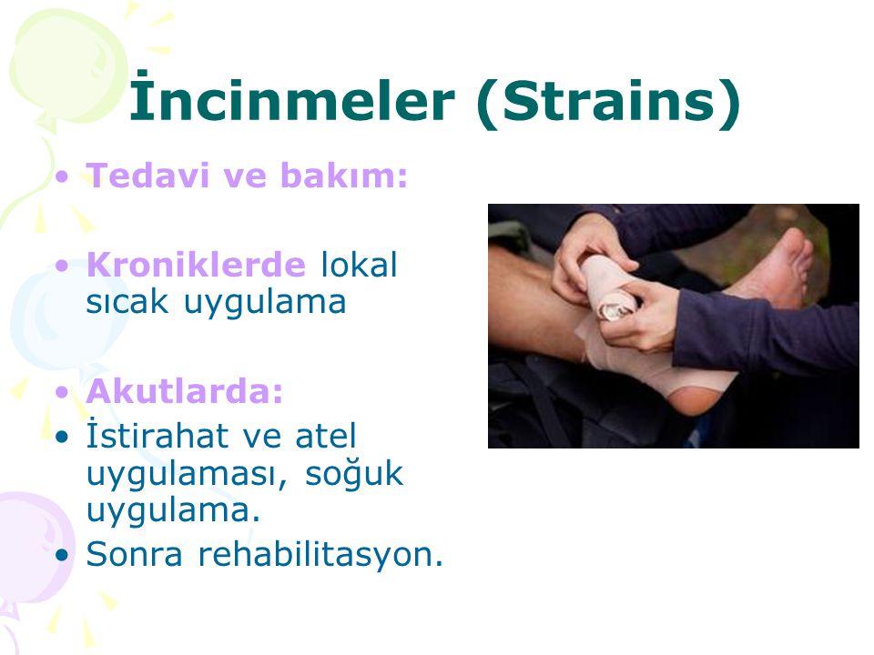 İncinmeler (Strains) Tedavi ve bakım: Kroniklerde lokal sıcak uygulama
