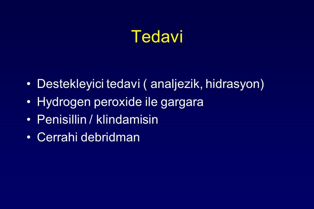 Tedavi Destekleyici tedavi ( analjezik, hidrasyon)