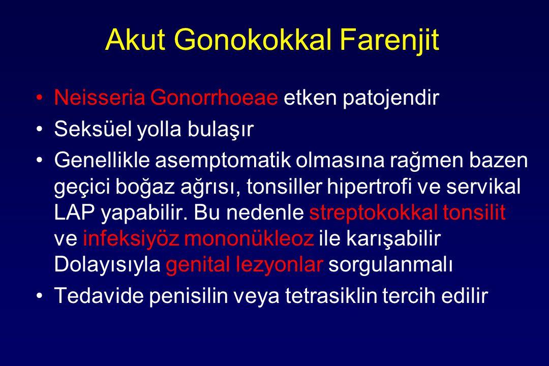 Akut Gonokokkal Farenjit