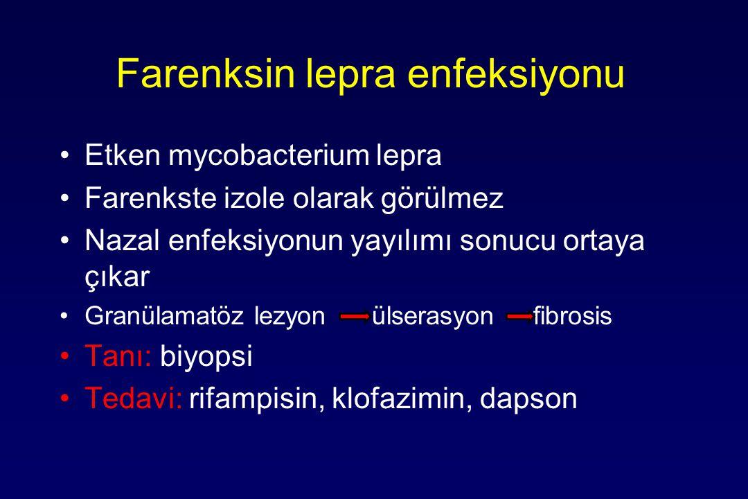 Farenksin lepra enfeksiyonu