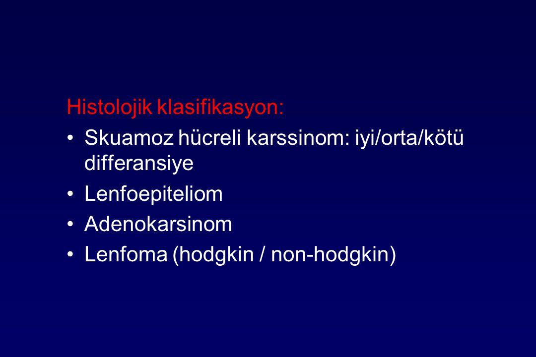 Histolojik klasifikasyon: