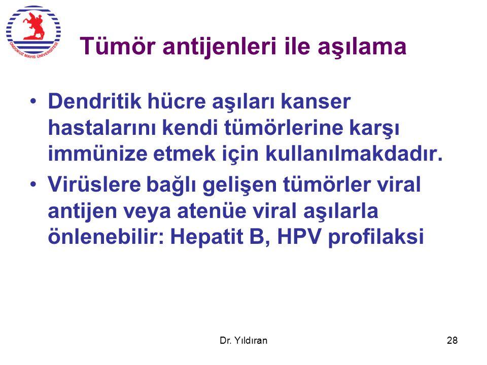 Tümör antijenleri ile aşılama