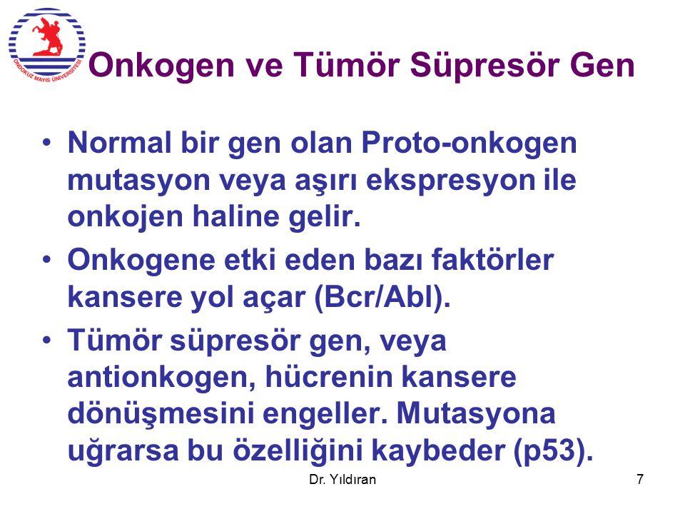 Onkogen ve Tümör Süpresör Gen