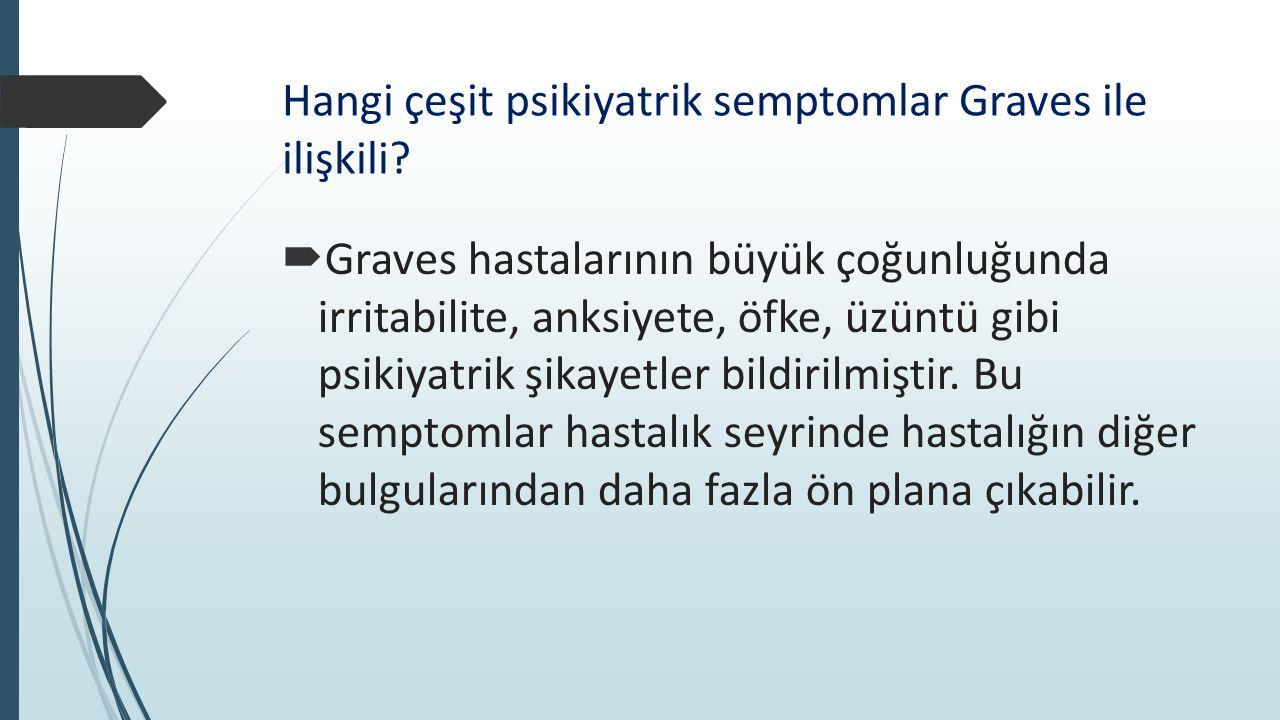 Hangi çeşit psikiyatrik semptomlar Graves ile ilişkili