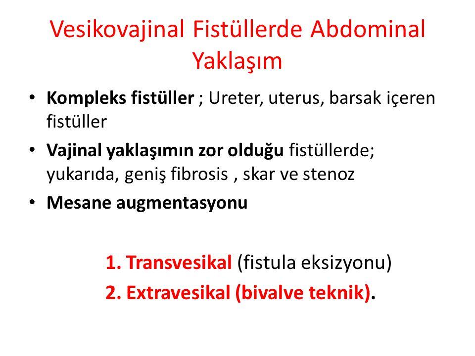 Vesikovajinal Fistüllerde Abdominal Yaklaşım