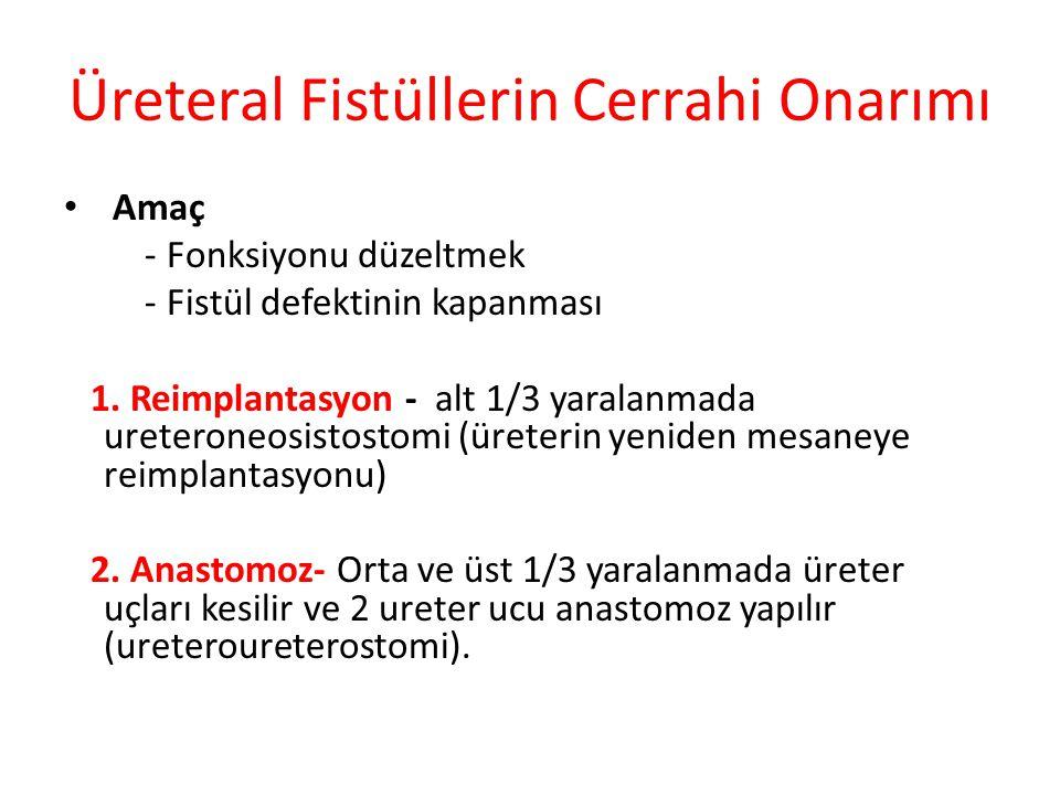 Üreteral Fistüllerin Cerrahi Onarımı