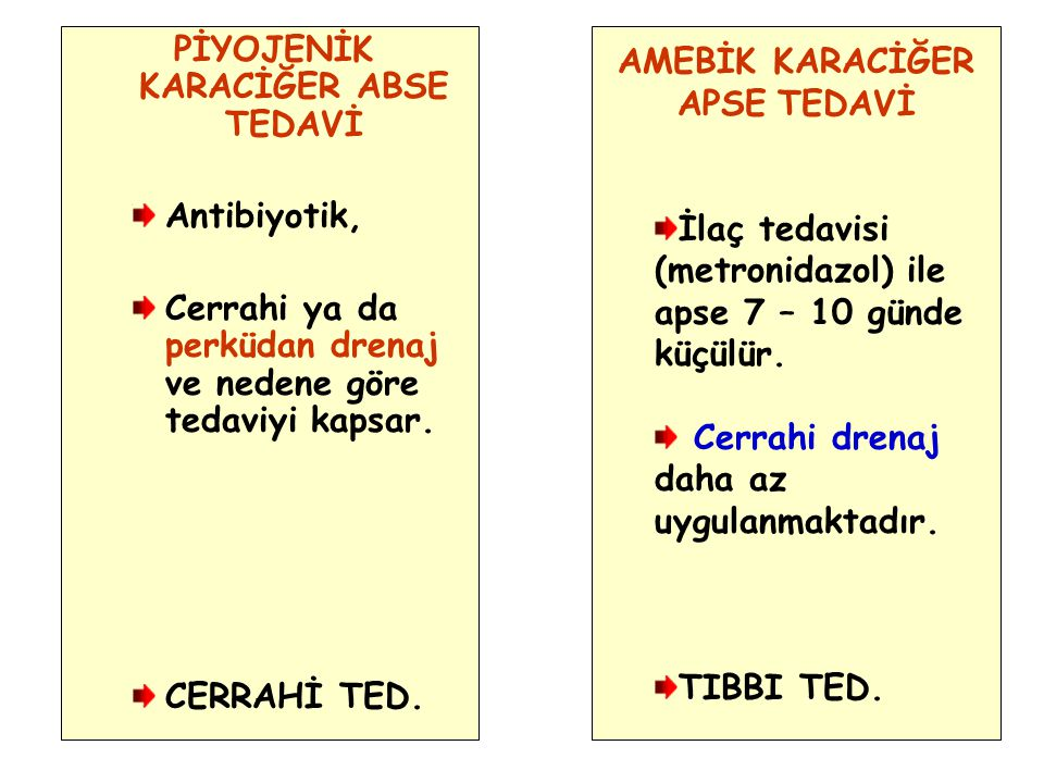 PİYOJENİK KARACİĞER ABSE TEDAVİ