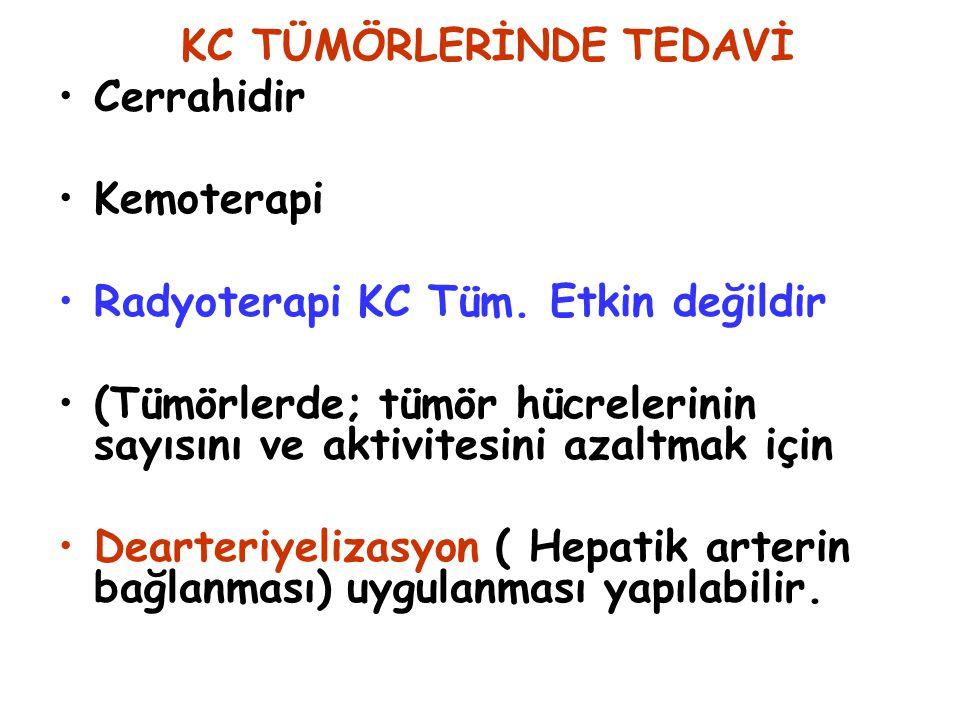 KC TÜMÖRLERİNDE TEDAVİ