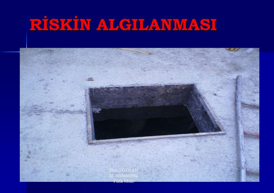 RİSKİN ALGILANMASI İlknur ÖZKAN İŞ Başmüfettişi Fizik Müh.