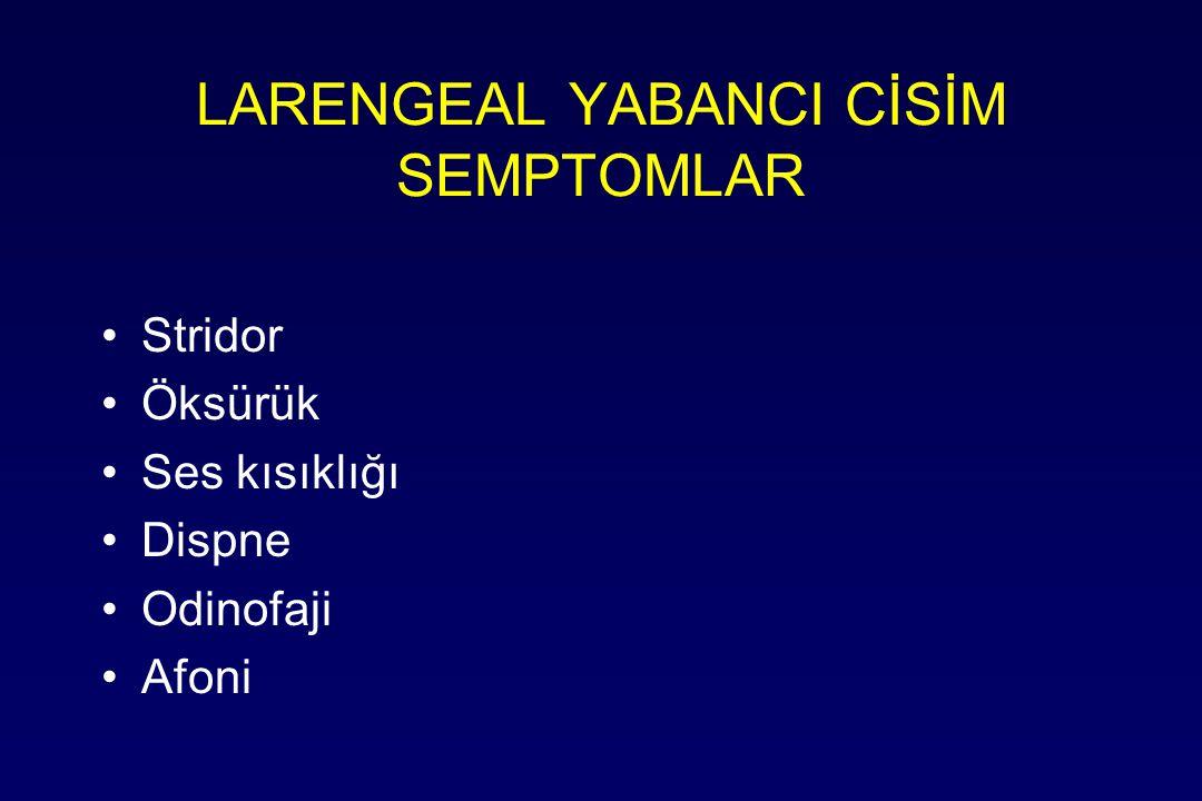 LARENGEAL YABANCI CİSİM SEMPTOMLAR