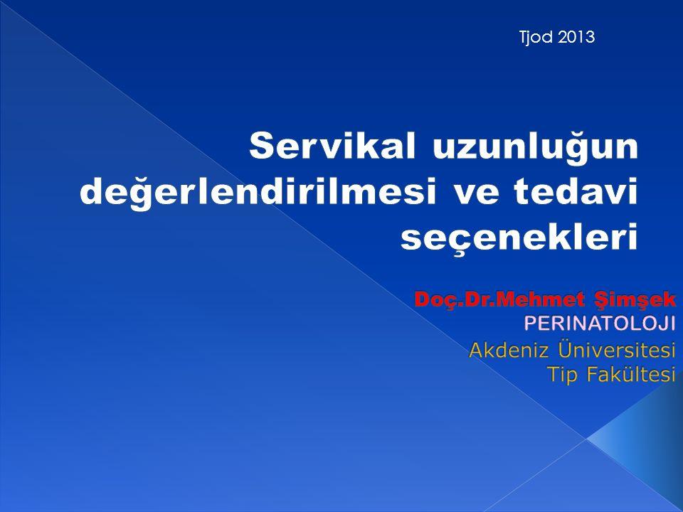 Doç.Dr.Mehmet Şimşek PERINATOLOJI Akdeniz Üniversitesi Tip Fakültesi