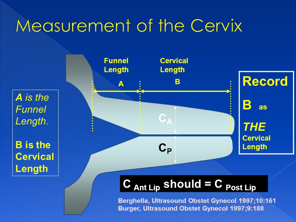 Measurement of the Cervix