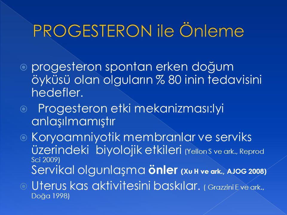 PROGESTERON ile Önleme