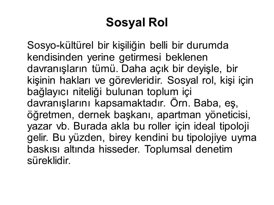 Sosyal Rol