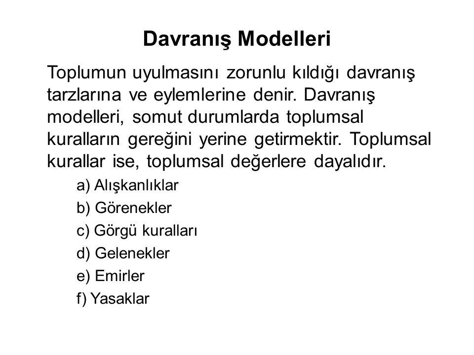 Davranış Modelleri