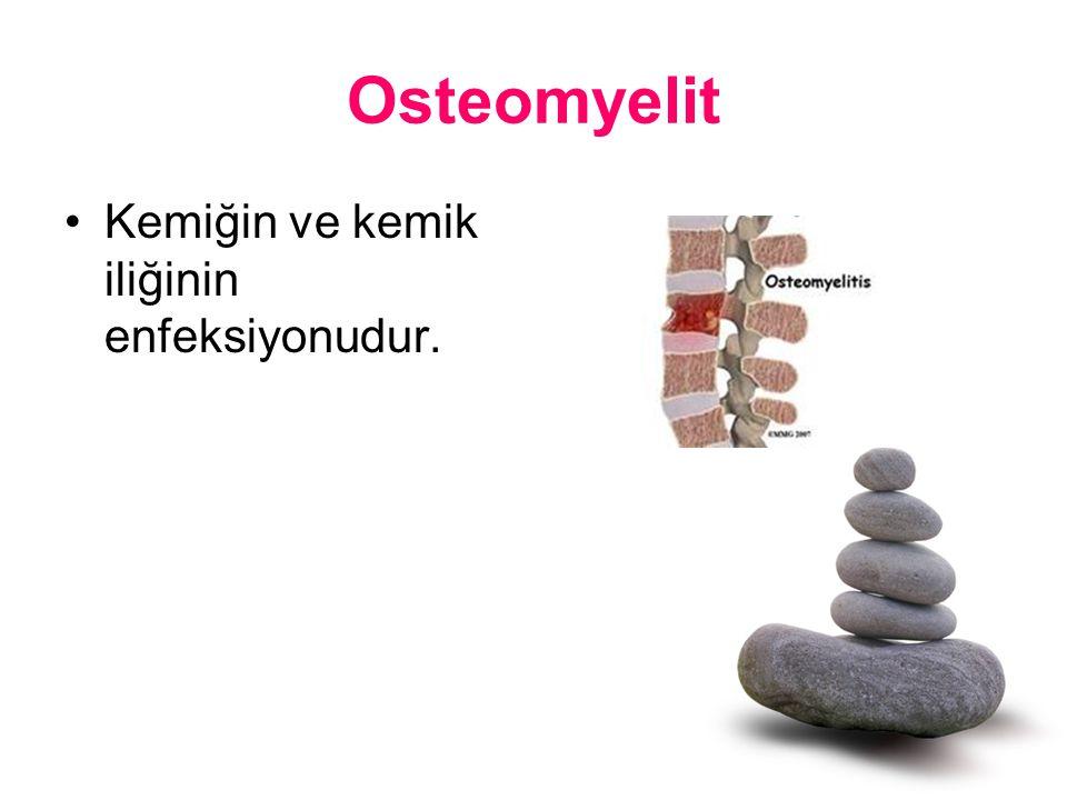 Osteomyelit Kemiğin ve kemik iliğinin enfeksiyonudur.