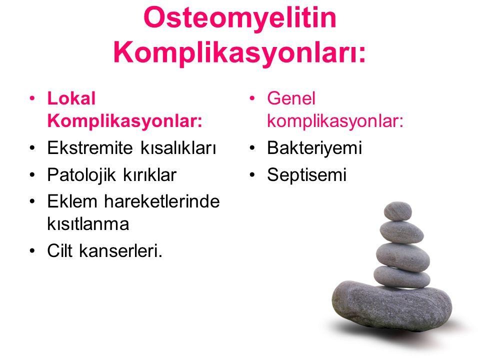 Osteomyelitin Komplikasyonları: