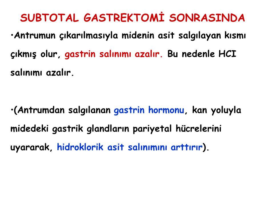 SUBTOTAL GASTREKTOMİ SONRASINDA