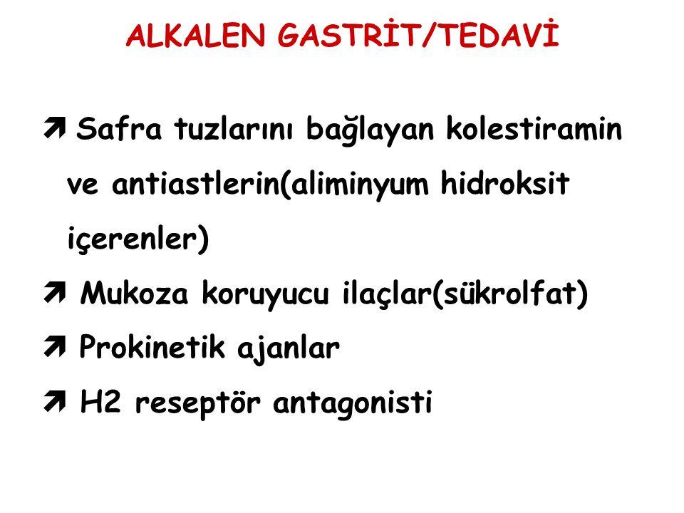 ALKALEN GASTRİT/TEDAVİ