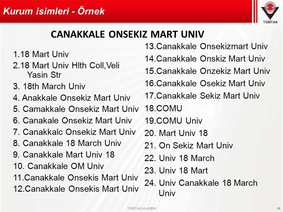 CANAKKALE ONSEKIZ MART UNIV