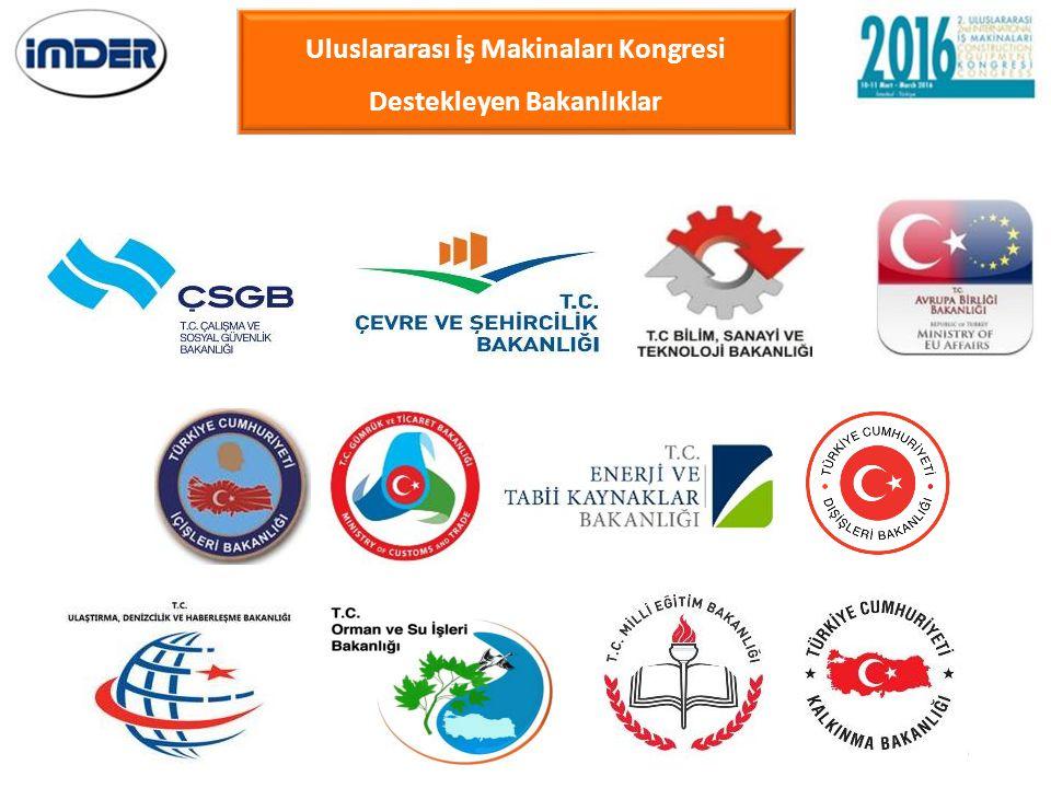 Uluslararası İş Makinaları Kongresi Destekleyen Bakanlıklar