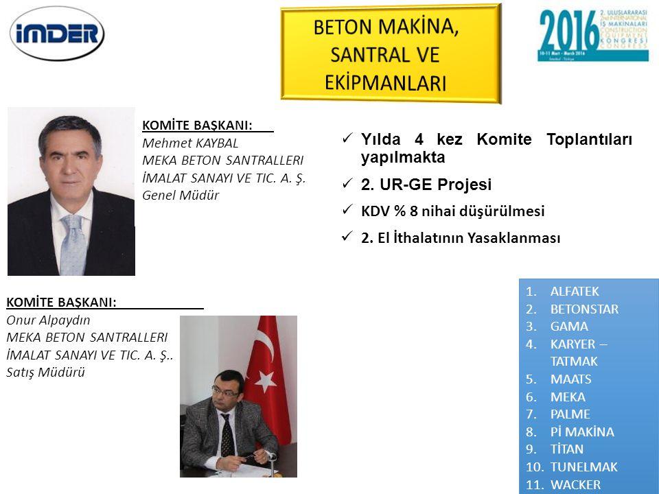 BETON MAKİNA, SANTRAL VE EKİPMANLARI