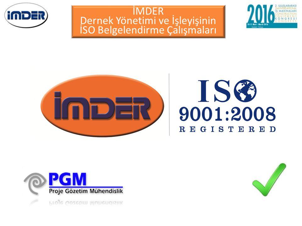 Dernek Yönetimi ve İşleyişinin İSO Belgelendirme Çalışmaları
