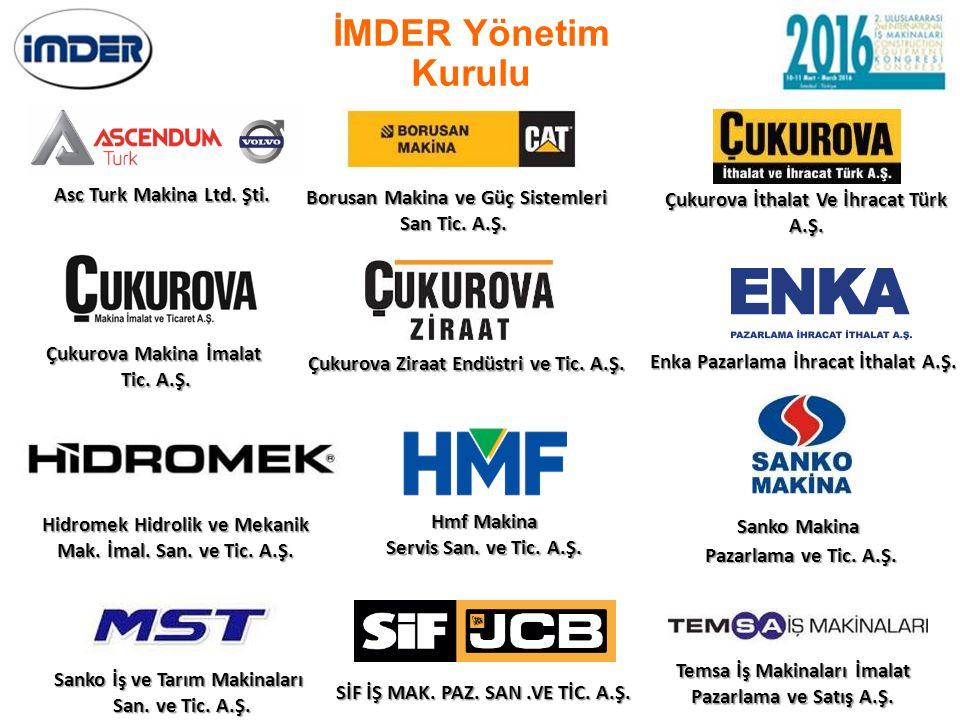 İMDER Yönetim Kurulu Asc Turk Makina Ltd. Şti.